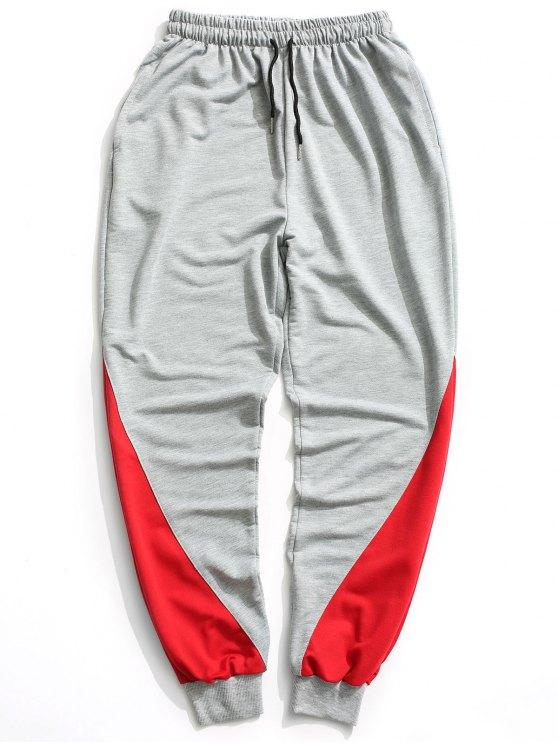 Zweifarbige Jogger Pants - Grau 2XL