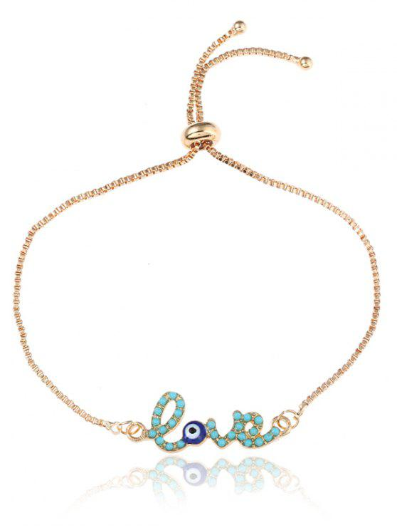Valentinstag Auge Liebe Box Kette Bolo Armband - Golden