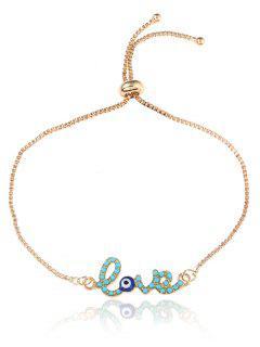 Valentine's Day Eye Love Box Chain Bolo Bracelet - Golden