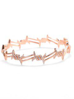 Valentine's Day Faux Diamond Bracelet - Rose Gold
