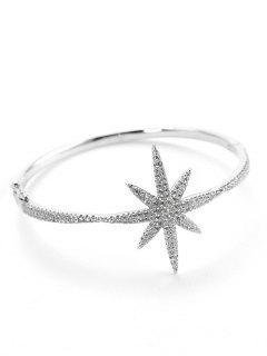 Pulsera De Metal Con Diseño De Estrella De Mar De San Valentín - Plata