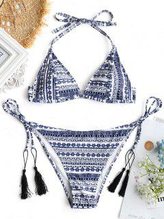 Top De Bikini Imprimé Tribal Avec String - S