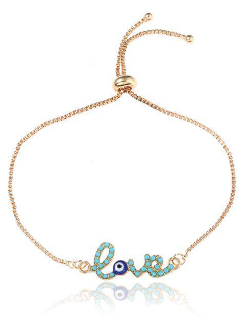 Bracelet Bolo en forme de boîte à bijoux oeil de la Saint-Valentin - Or  Mobile