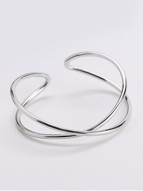 womens Metal Irrgular Design Cuff Bracelet -   Mobile