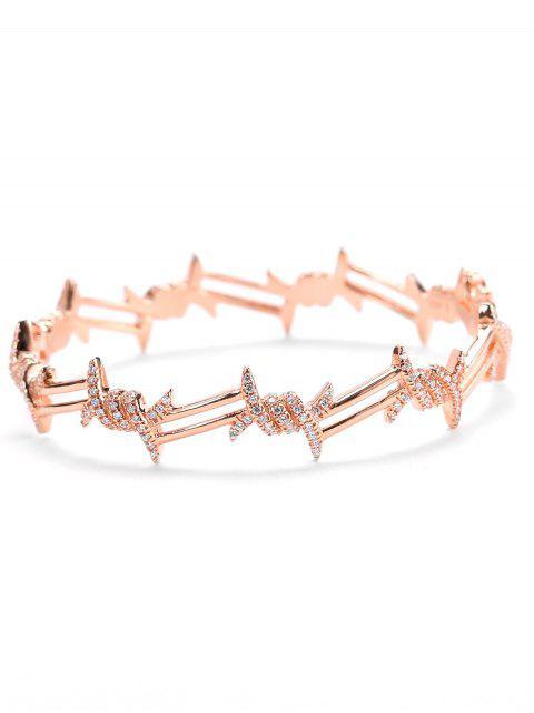 Bracelet en Diamant Fantaisie pour la Saint-Valentin - Or de Rose  Mobile