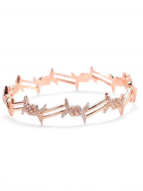 Pulsera de diamantes de imitación de San Valentín - Rosa de Oro  Mobile