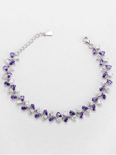 Valentinstag Faux Amethyst Armband - Lila  Mobile