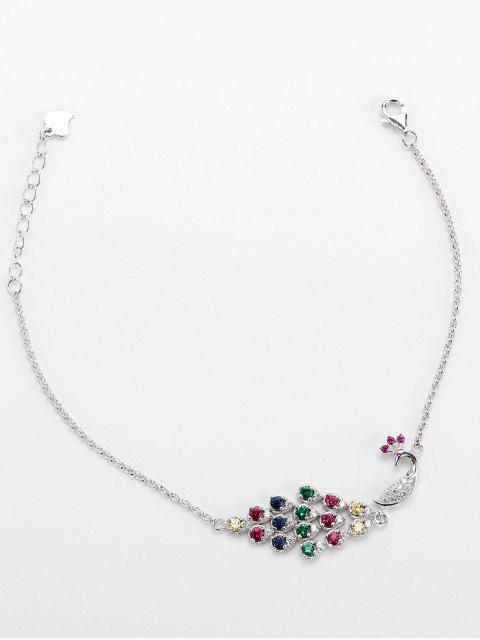 best Valentine's Day Faux Gem Peacock Charm Bracelet - COLORMIX  Mobile