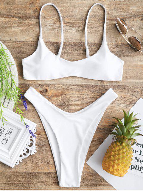 Haut Bikini Rembourré et Bas Échancré - Blanc S Mobile