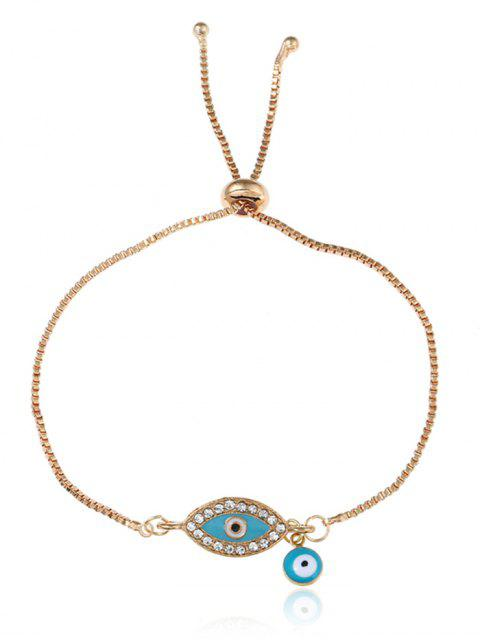 buy Rhinestone Eye Bolo Charm Bracelet - GOLDEN  Mobile