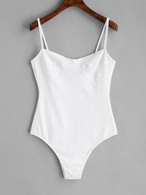Dünner Strick Bralette Bodysuit