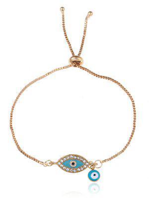 Rhinestone Eye Bolo Charm Bracelet