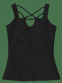Keyhole M Front Tank Top Lattice Negro 1qg1Hw