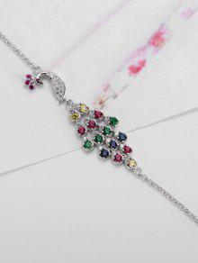 305d5e6b672f ... Pulsera del encanto del pavo real del día de los enamorados de San  Valentín
