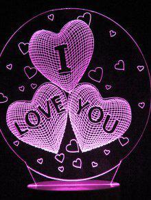 عيد الحب عيد الحب القلب تغيير لون ضوء الليل - شفاف