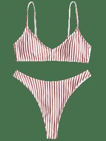Conjunto Tanga De Alto Bikini A Corte Rayas kZuOPXTi