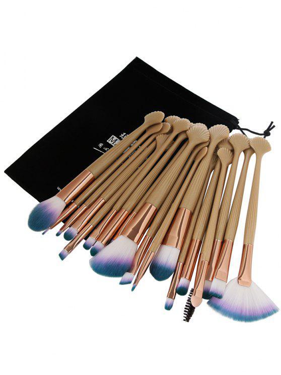 20er ultra soft fiber haar augen make up pinsel set gold for Rosa augen