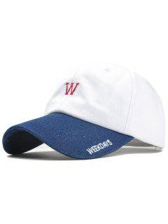 WEEKDAYS Pattern Embroidery Adjustable Baseball Cap - White