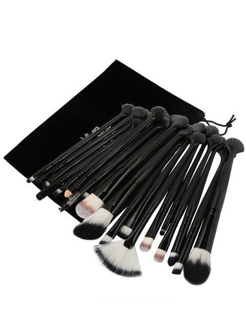 Set de pinceles de maquillaje ultra fino de fibra para ojos, 20 piezas - Negro  Mobile