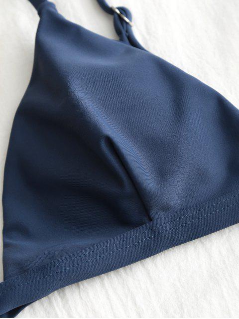 Conjunto de bikini Plunge Thong - Cadetblue S Mobile