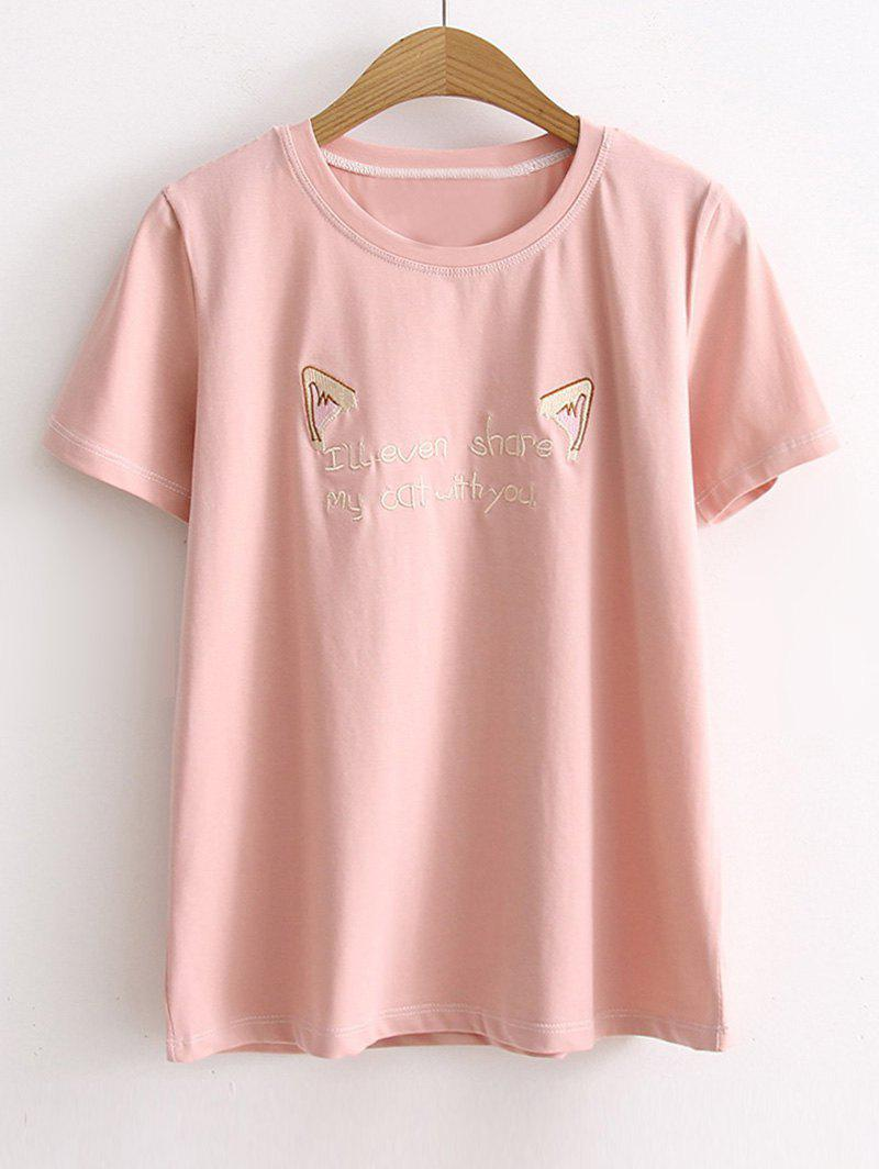 Short Sleeve Cattoon Letter Embroidered T shirt 251808702