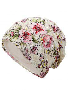 الأزهار مزين الدانتيل سروشي قبعة صغيرة - اللون البيج