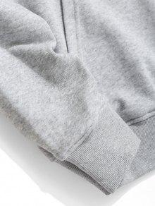 Pouch Graphic Hoodie Fleece Pocket 3xl Gris xqHpP