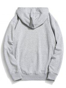 3xl Graphic Gris Pocket Pouch Fleece Hoodie P8q7X