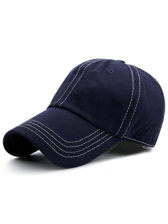 fancy Line Embroidery Adjustable Graphic Hat - CADETBLUE
