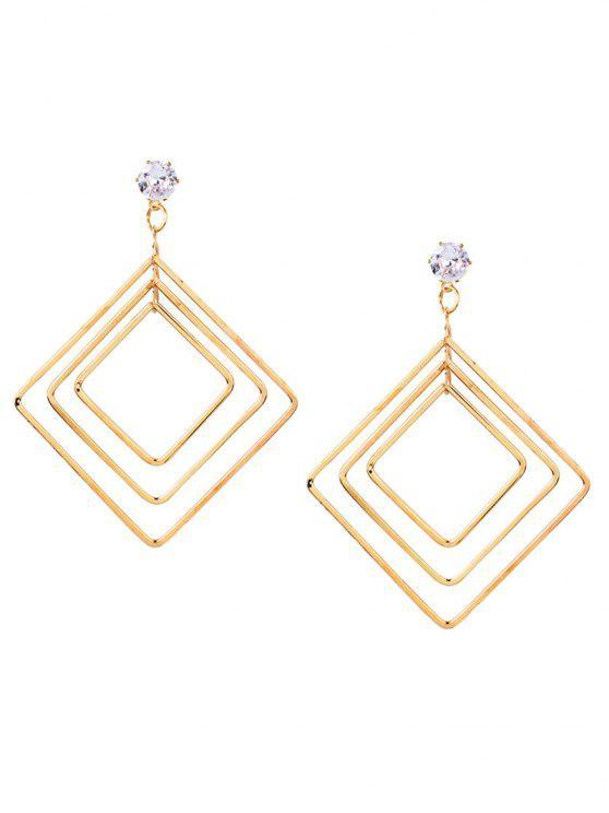 Pendientes de gota geométricos Multideck de aleación vintage - Dorado