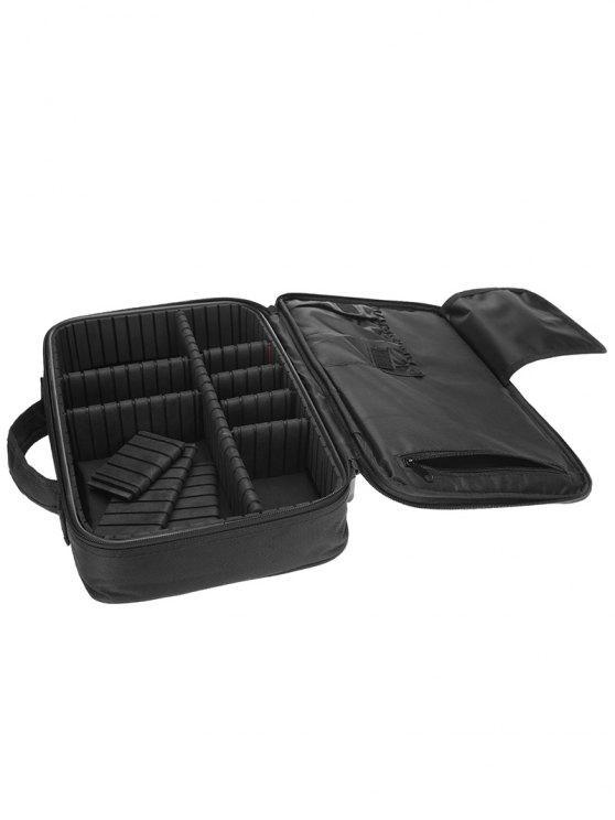 حقيبة متعددة الوظائف لتقسيم وتنظيم مستحضرات التجميل - أسود