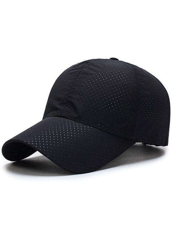 2019 Solid Color Pattern Quick Dry Breathable Sunscreen Cap In BLACK ... e910c9e580b