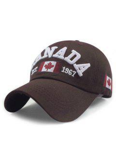 Sombrero De Béisbol Ajustable Del Patrón De La Bandera De Canadá - Capuchino