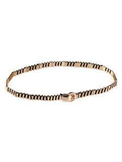 Cinturón De Cintura Elástico Elástico Embellecido Metal - Dorado