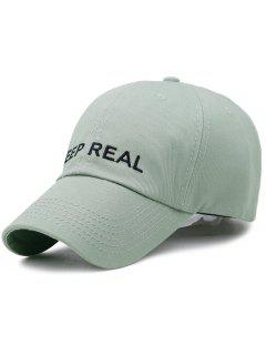 KEEP REAL Pattern Adjustable Baseball Hat - Army Green