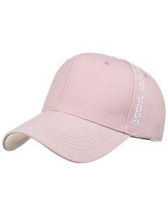 Letter Embroidery Side Baseball Hat - Pink