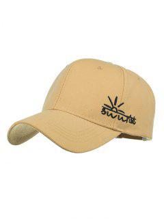 Sunrise Embroidery Baseball Hat - Khaki