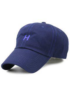 Sombrero De Béisbol Ajustable Del Bordado De H - Azul Claro