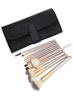 Ombre Hair 12Pcs Makeup Brushes Set With Bag - Champagne