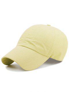 Solid Color Pattern Breathable Sunscreen Hat - Light Yellow