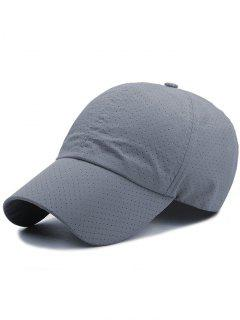 Solid Color Pattern Quick Dry Breathable Sunscreen Cap - Deep Gray