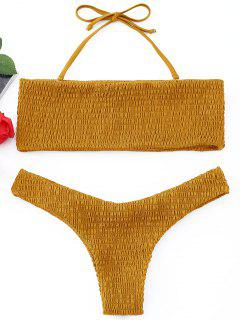 Conjunto De Bikini De Bandeau Smocked - Jengibre M