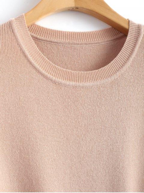 Vestido jersey cruzado con abertura - Rosa Desnudo M Mobile