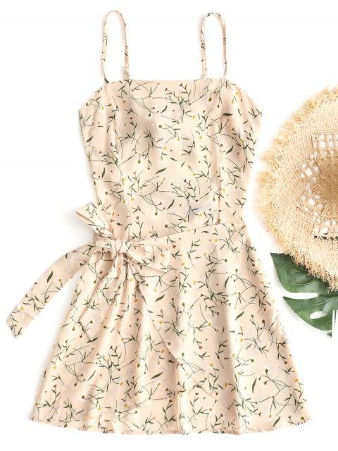 Mini-robe avec Ceinture aux Hanches - Abricot XL Mobile