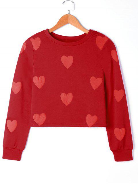 Herz Grafik Sweatshirt - Rot XL  Mobile