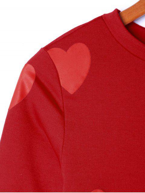 Sudadera con estampado de corazones - Rojo XL Mobile