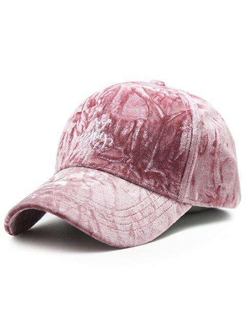 online Yoy Crown Embroidery Velvet Baseball Hat - PINK  Mobile