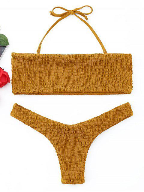 Conjunto de Bikini de Bandeau Smocked - Jengibre XL Mobile