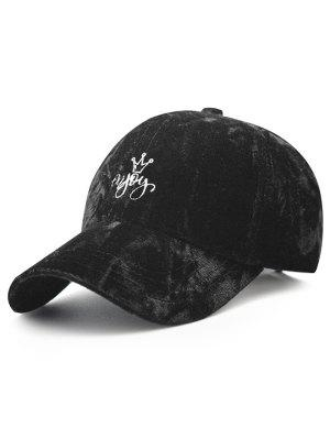 zaful Yoy Crown Embroidery Velvet Baseball Hat