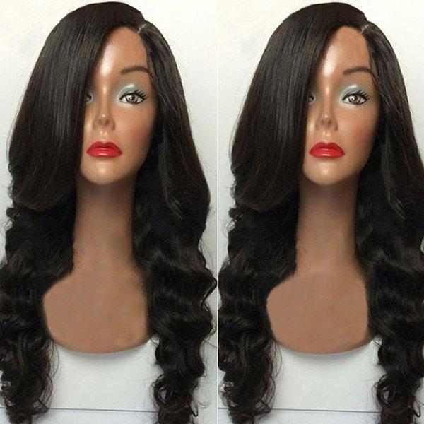 Long Capless Side Parting Body Wave Synthetic Wig 252344901